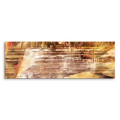 PaulSinusArt Enigma Panorama Abstrakt 569 Painting Print on Canvas