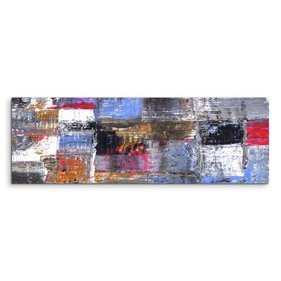 PaulSinusArt Enigma Panorama Abstrakt 941 Painting Print on Canvas