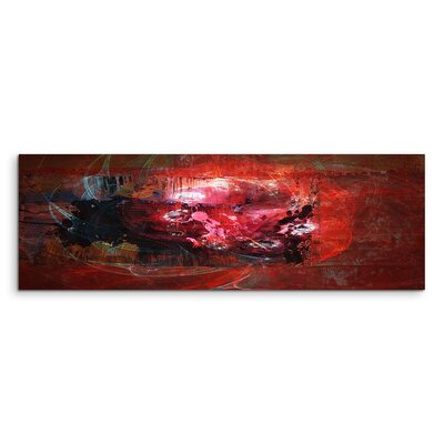 PaulSinusArt Enigma Panorama Abstrakt 1226 Painting Print on Canvas