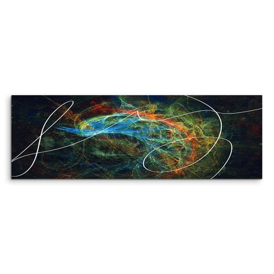 PaulSinusArt Enigma Panorama Abstrakt 1238 Painting Print on Canvas