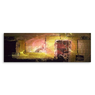 PaulSinusArt Enigma Panorama Abstrakt 1369 Painting Print on Canvas