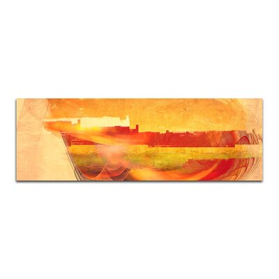 PaulSinusArt Enigma Panorama Abstrakt 118 Painting Print on Canvas