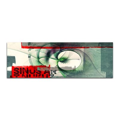 PaulSinusArt Enigma Panorama Abstrakt 119 Painting Print on Canvas
