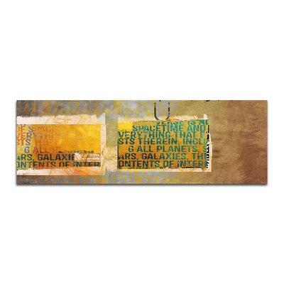 PaulSinusArt Enigma Panorama Abstrakt 123 Painting Print on Canvas