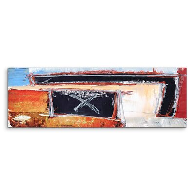 PaulSinusArt Enigma Panorama Abstrakt 606 Painting Print on Canvas