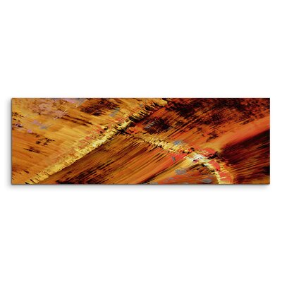 PaulSinusArt Enigma Panorama Abstrakt 618 Painting Print on Canvas