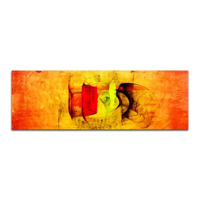 PaulSinusArt Enigma Panorama Abstrakt 034 Painting Print on Canvas