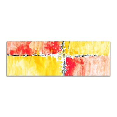 PaulSinusArt Enigma Panorama Abstrakt 008 Painting Print on Canvas