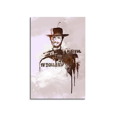 PaulSinusArt Enigma A Fistful of Dollars Painting Print on Canvas