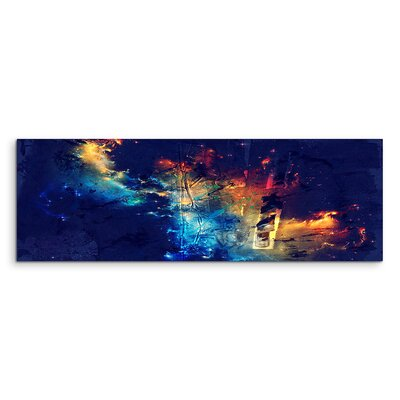 PaulSinusArt Enigma Panorama Abstrakt 810 Painting Print on Canvas