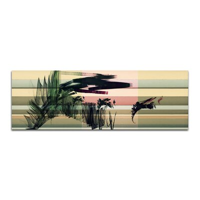 PaulSinusArt Enigma Panorama Abstrakt 073 Painting Print on Canvas