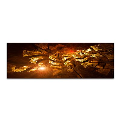 PaulSinusArt Enigma Panorama Abstrakt 356 Painting Print on Canvas
