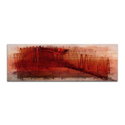 PaulSinusArt Enigma Panorama Abstrakt 079 Painting Print on Canvas