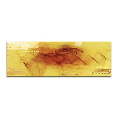 PaulSinusArt Enigma Panorama Abstrakt 086 Painting Print on Canvas