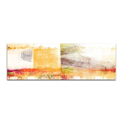 PaulSinusArt Enigma Panorama Abstrakt 393 Painting Print on Canvas