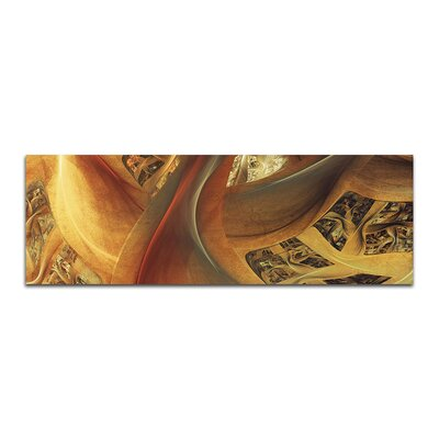 PaulSinusArt Enigma Panorama Abstrakt 432 Painting Print on Canvas