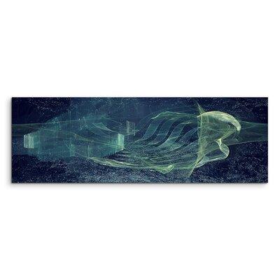 PaulSinusArt Enigma Panorama Abstrakt 1066 Painting Print on Canvas