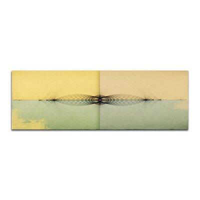 PaulSinusArt Enigma Panorama Abstrakt 401 Painting Print on Canvas