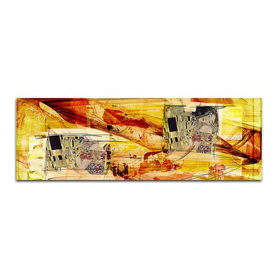 PaulSinusArt Enigma Panorama Abstrakt 293 Painting Print on Canvas