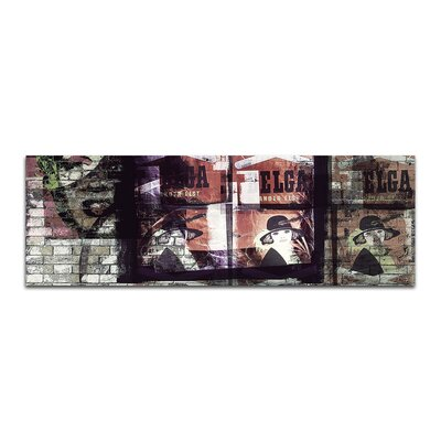 PaulSinusArt Enigma Panorama Abstrakt 446 Painting Print on Canvas