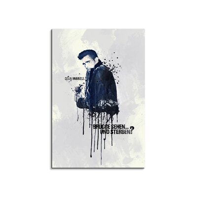 PaulSinusArt Enigma Colin Farrell Painting Print on Canvas
