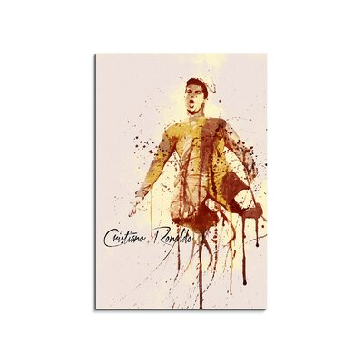 PaulSinusArt Enigma Cristiano Ronaldo Painting Print on Canvas