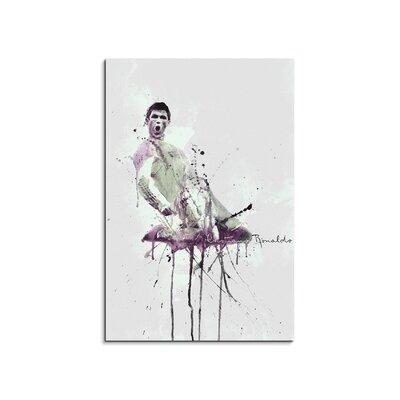 PaulSinusArt Enigma Cristiano Ronaldo III Painting Print on Canvas