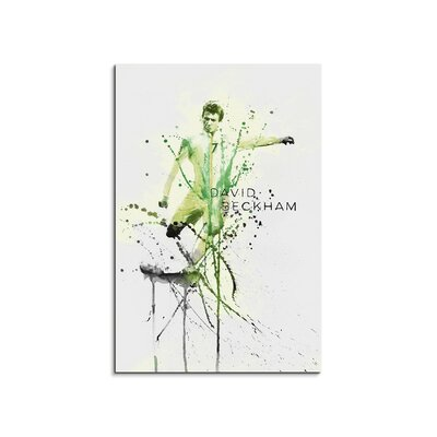 PaulSinusArt Enigma David Beckham Painting Print on Canvas