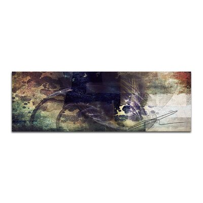 PaulSinusArt Enigma Panorama Abstrakt 308 Painting Print on Canvas