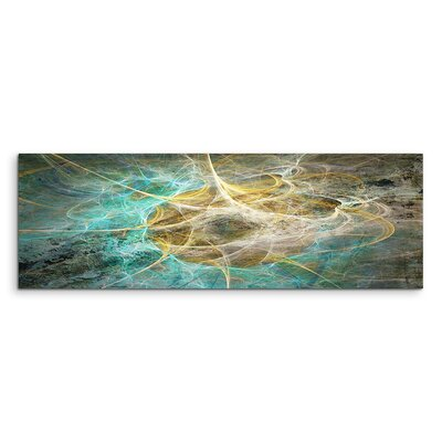 PaulSinusArt Enigma Panorama Abstrakt 1279 Painting Print on Canvas