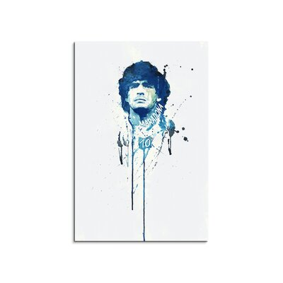 PaulSinusArt Enigma Diego Maradona Painting Print on Canvas
