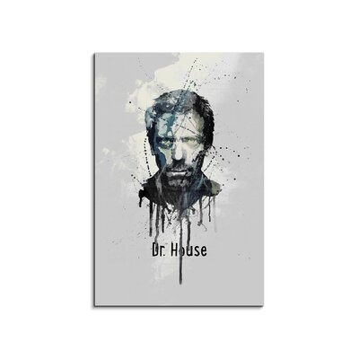 PaulSinusArt Enigma Dr House Painting Print on Canvas