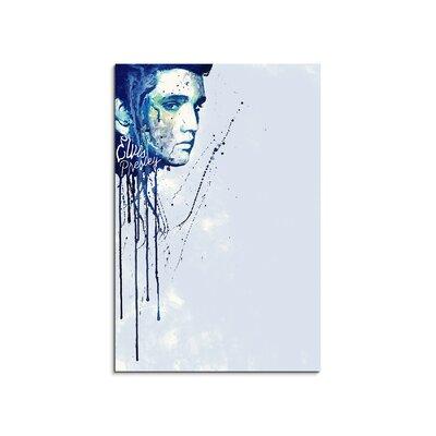 PaulSinusArt Enigma Elvis Presley Painting Print on Canvas