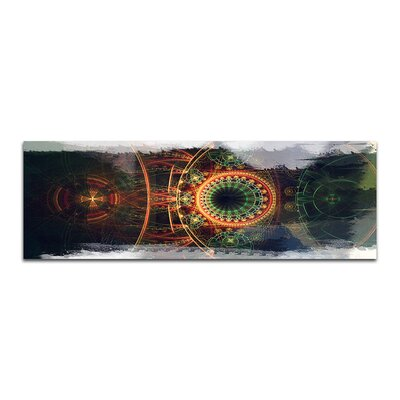 PaulSinusArt Enigma Panorama Abstrakt 484 Painting Print on Canvas