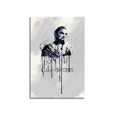 PaulSinusArt Enigma Drogo Game of Thrones Painting Print on Canvas