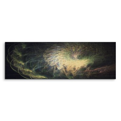 PaulSinusArt Enigma Panorama Abstrakt 1138 Painting Print on Canvas