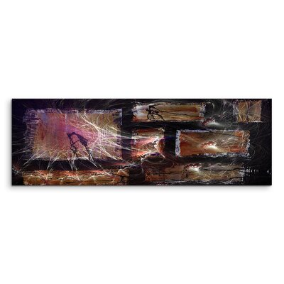 PaulSinusArt Enigma Panorama Abstrakt 1440 Painting Print on Canvas