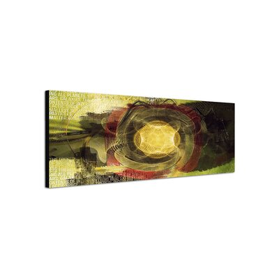 PaulSinusArt Enigma Panorama Abstrakt 494 Painting Print on Canvas