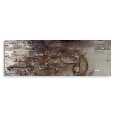 PaulSinusArt Enigma Panorama Abstrakt 1366 Painting Print on Canvas