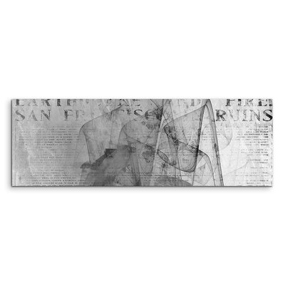 PaulSinusArt Enigma Panorama Abstrakt 1367 Painting Print on Canvas