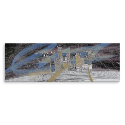 PaulSinusArt Enigma Panorama Abstrakt 1452 Painting Print on Canvas