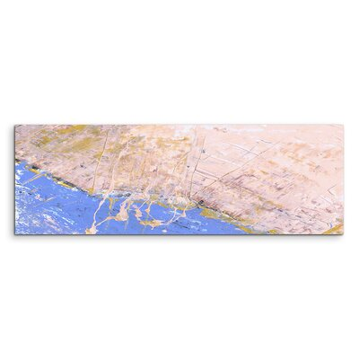 PaulSinusArt Enigma Panorama Abstrakt 649 Painting Print on Canvas