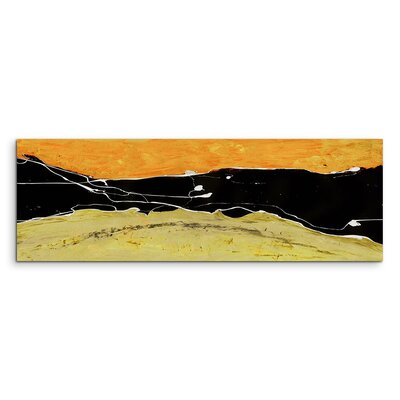 PaulSinusArt Enigma Panorama Abstrakt 655 Painting Print on Canvas