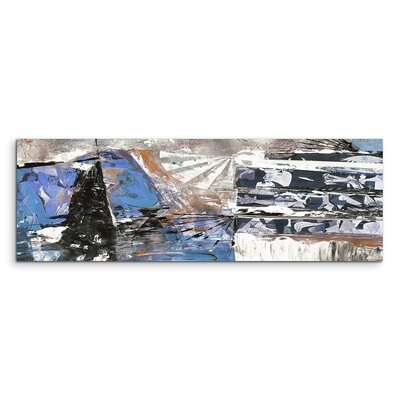 PaulSinusArt Enigma Panorama Abstrakt 539 Painting Print on Canvas
