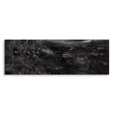 PaulSinusArt Enigma Panorama Abstrakt 841 Painting Print on Canvas