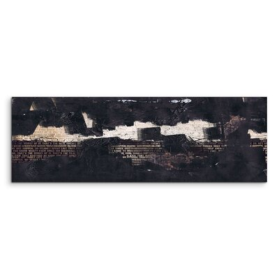 PaulSinusArt Enigma Panorama Abstrakt 842 Painting Print on Canvas