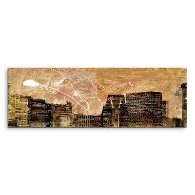 PaulSinusArt Enigma Panorama Abstrakt 844 Painting Print on Canvas