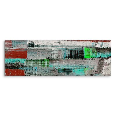 PaulSinusArt Enigma Panorama Abstrakt 923 Painting Print on Canvas