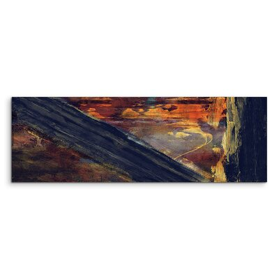 PaulSinusArt Enigma Panorama Abstrakt 924 Painting Print on Canvas