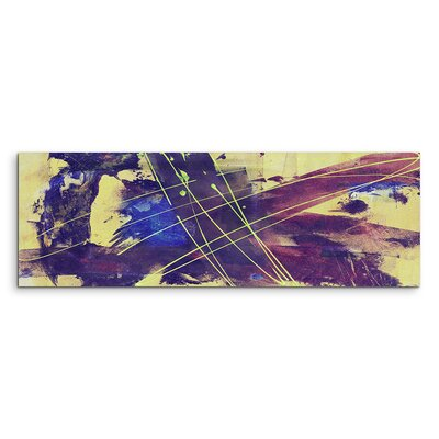 PaulSinusArt Enigma Panorama Abstrakt 861 Painting Print on Canvas